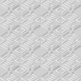 3D Witboekkunst Diamond Check Cross Geometry Frame royalty-vrije illustratie