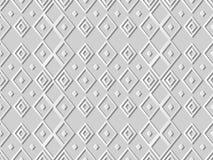 3D Witboekkunst Diamond Check Cross Rhomb Geometry stock illustratie