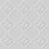 3D Witboekkunst om Dot Line Cross Flower vector illustratie