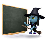 3d Witch class Royalty Free Stock Image