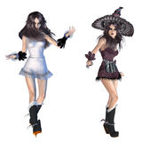 3d witch Stock Photos
