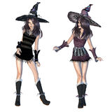 3d witch Stock Photo