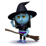 3d Witch has landed Stock Images