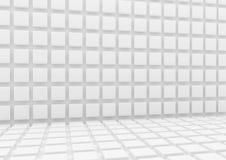 3d Witte achtergrond met kubussen Stock Fotografie