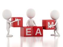 3D witte bedrijfsmensen Het concept van het team wit Royalty-vrije Stock Afbeeldingen