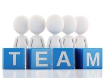 3D witte bedrijfsmensen Het concept van het team wit Stock Fotografie