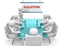 3d witte bedrijfspersonen op een workshop. Presentatie Stock Foto
