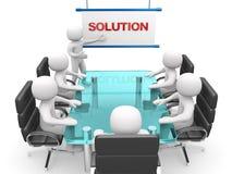 3d witte bedrijfspersonen op een workshop. Presentatie Stock Afbeelding
