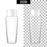 3d witte realistische kosmetische lege buizen van het pakketpictogram op transparante vectorillustratie als achtergrond Realistis Stock Foto's