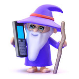 3d Wizard chats on his mobile phone Stock Photography
