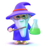 3d Wizard has a potion Royalty Free Stock Photography