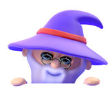 3d Wizard pops out Royalty Free Stock Image