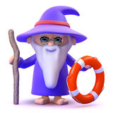 3d Wizard to the rescue Royalty Free Stock Photography