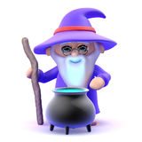 3d Wizards cauldron Stock Photo
