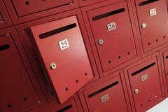 3d wizerunek odizolowywająca skrzynka pocztowa otwarta Obraz Royalty Free