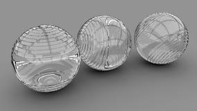 3d wizerunku abstrakta piłki 3d odpłacają się tło wolumetryczne sfery ilustracji