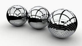 3d wizerunku abstrakta piłki 3d odpłacają się tło wolumetryczne sfery royalty ilustracja