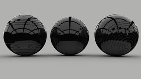 3d wizerunku abstrakta piłki 3d odpłacają się tło wolumetryczne sfery ilustracja wektor