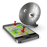 3d wizerunku nawigaci telefon Odosobniona 3d ilustracja Ilustracji