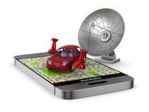 3d wizerunku nawigaci telefon Odosobniona 3d ilustracja Zdjęcie Stock