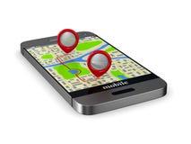 3d wizerunku nawigaci telefon Odosobniona 3d ilustracja Obrazy Stock