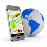 3d wizerunku nawigaci telefon Odosobniona 3d ilustracja Obraz Royalty Free