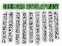 3d wizerunku rozwoju biznesu zagadnień pojęcia słowa chmury backgrou Zdjęcie Royalty Free