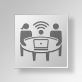 3D wlan icon Business Concept Royalty Free Stock Photo