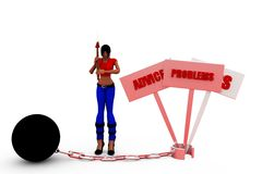 3d woman advice progress loss concept Stock Image