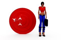 3d woman aim conept Stock Images