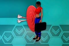 3d woman aim illustration Royalty Free Stock Photos