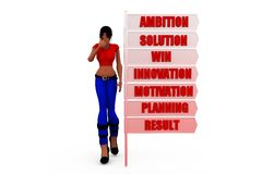 3d woman ambition concept Stock Photo