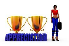 3d woman appreciation concept Royalty Free Stock Photos