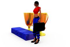 3d woman appreciation concept Stock Photos