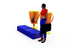 3d woman appreciation concept Stock Photo