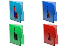 3d woman approved icon Royalty Free Stock Photos