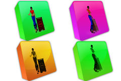 3d woman approved icon Royalty Free Stock Photography