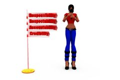 3d woman ARAC concept Royalty Free Stock Images