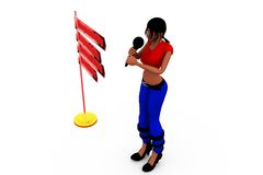 3d woman ARAC concept Stock Photo
