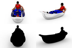 3d woman bath tub concept collections with alpha and shadow channel Stock Photography