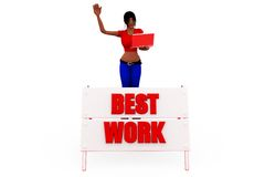 3d woman best work concept Stock Photography