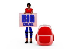3d woman big deal concept Stock Images