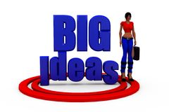 3d woman big ideas concept Royalty Free Stock Photography