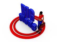 3d woman big ideas concept Stock Image