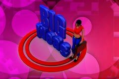 3d woman big ideas illustration Royalty Free Stock Photos