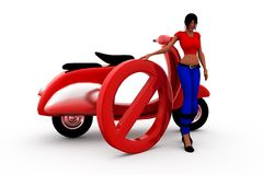 3d woman block concept Royalty Free Stock Photography
