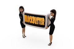 3d woman blockbuster concept Stock Photos