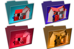 3d woman blog icon Stock Images
