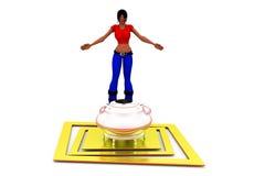 3d woman boiler concept Stock Image
