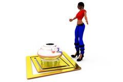 3d woman boiler concept Stock Photography